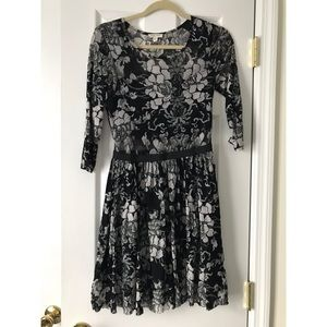 Urban Outfitters, black floral dress